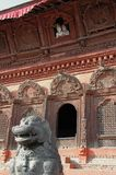 Shiva Parvati Temple, Katmandu. One of many historical temples, here in Burdar Square attracting tourists and worshippers alike, Nepal Royalty Free Stock Photos