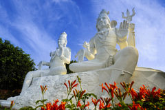 Shiva and Parvati on top of the Kailasagiri hill, Vizag Stock Image