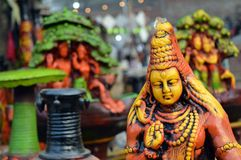 Shiva. This picture was taken at Surajkund Crafts Festival, New Delhi. Depicting Hindu god Lord Shiva Stock Images