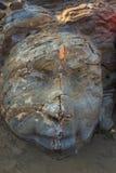 Shiva Rock Carving à peu de plage de Vagator, Goa du nord, Inde Photographie stock
