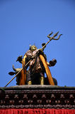 Shiva on roof of Hanuman Dhoka in Basantapur Durbar Square Royalty Free Stock Photos