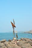 Shiva` s drietand op een rots royalty-vrije stock foto