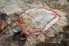 Shiva's tears. Top of the mountain Arunachala. India Royalty Free Stock Photography