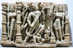 Shiva Sculpture Andhakasur Killing India foto de stock