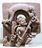 Shiva Sculpture Gajasur Killing India foto de stock