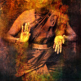 Shiva Shakti. Hands in dance for Shiva with give and take mudra showing prana. Photo based illustration Royalty Free Stock Photos