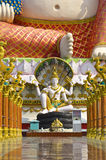 Shiva and Smiling Buddha in Thailand temple Stock Photos