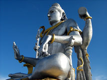 Shiva statue with blue sky Stock Photography