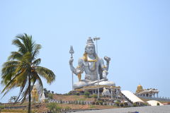 Shiva Statue - Murudeshwar Arkivfoton