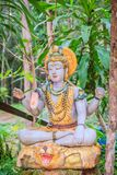 Shiva statue in the public forest temple. Shiva is one of the principal deities of Hinduism. He is the Supreme Being within Shaivi. Sm, one of the major stock images