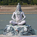 Shiva statue in Rishikesh, India Royalty Free Stock Images