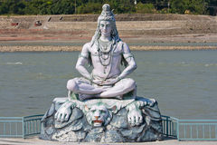 Shiva statue in Rishikesh, India Royalty Free Stock Image