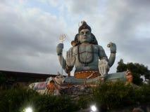 Shiva statue in sri lanka. This is the koneswaram temple at Trincomalee, Eastern Sri Lanka.The Koneswaram Temple is one of three major Hindu shrines on the stock image