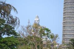 Shiva Statue & tempel - Murudeshwar Arkivfoto