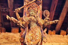 Shiva staty av det Nepal tempelet Royaltyfria Bilder
