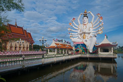Shiva staty i kohsamui arkivbilder