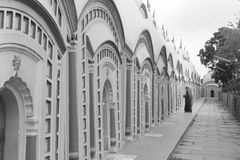 108 Shiva Temple at Burdwan, West Bengal, India. 108 Shiva Temple. The circle of the 108 Shiva Temple at Bardhaman, West Bengal, India Stock Photo