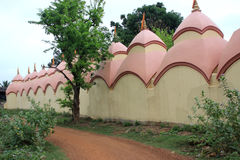 108 Shiva Temple em Burdwan, Bengal ocidental, Índia Imagens de Stock
