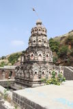 Shiva Temple in Mountains Stock Images