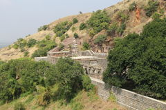 Shiva Temple in Mountains Stock Photos