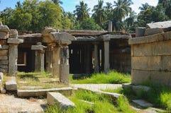 Shiva Temple subterráneo en Hampi, la India Foto de archivo libre de regalías