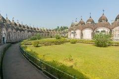 108 Shiva Temples av Kalna, Burdwan Arkivfoton