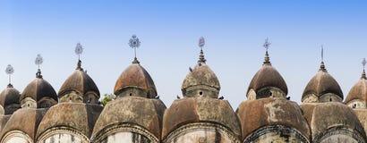 108 Shiva Temples av Kalna, Burdwan Royaltyfria Foton
