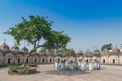 108 Shiva Temples av Kalna, Burdwan, västra Bengal arkivbilder
