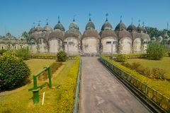 108 Shiva Temples de Kalna, Burdwan Images stock