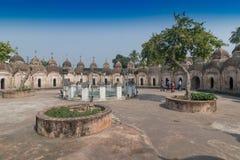 108 Shiva Temples de Kalna, Burdwan, le Bengale-Occidental images stock