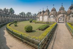 108 Shiva Temples de Kalna, Burdwan, le Bengale-Occidental photo libre de droits