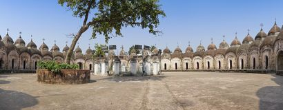 108 Shiva Temples of Kalna, Burdwan. Panoramic image of 108 Shiva Temples of Kalna, Burdwan , West Bengal. A total of 108 temples of Lord Shiva a Hindu God, are Stock Image