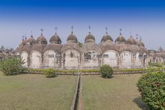 108 Shiva Temples of Kalna, Burdwan - West Bengal, India. 108 Shiva Temples of Kalna, Burdwan , West Bengal. A total of 108 temples of Lord Shiva a Hindu God royalty free stock photos