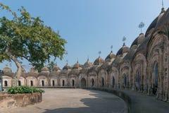 108 Shiva Temples von Kalna, Burdwan, Westbengalen stockbild