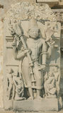 Shiva with Trishula(trident),Khajuraho temple. Shiva with Trishula(trident),detail of Khajuraho temple in India stock photos