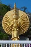 Shiva złota rzeźba Zdjęcia Royalty Free