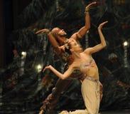 Shivadans het het suikergoedkoninkrijk van het tweede handelings tweede gebied - de Balletnotekraker Stock Fotografie