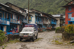 Shivalaya. NEPAL — CIRCA OCTOBER 2013: main street of the village  circa October 2013 in Stock Images