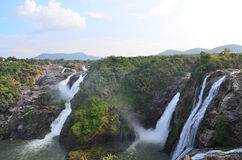 Shivanasamudra瀑布 库存照片