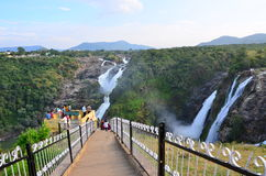 Shivanasamudra瀑布 库存图片