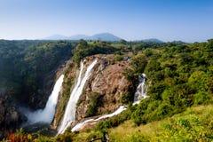 Shivanasamudra vattennedgång i den Karnataka staten av Indien Royaltyfri Foto