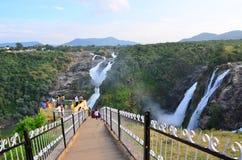 Shivanasamudra-Wasserfälle Stockbilder