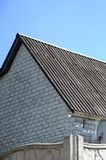 Shiver white roofs bring cool savings in residental attic stock images