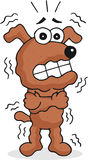 Shivering Dog. Retro cartoon funny dog is shivering Stock Photography