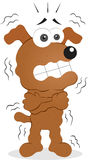 Shivering Dog. Vector cartoon funny dog is shivering Royalty Free Stock Photography
