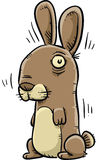 Shivering Rabbit. A nervous, cartoon rabbit shaking and shivering Royalty Free Stock Photography