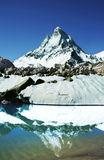 Shivling peak reflection Royalty Free Stock Image