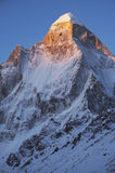 Shivling peak on sunrise Royalty Free Stock Photography