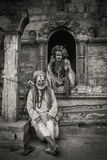 Shivratri Festival and baba`s at the Pashupatinath temple. The Pashupatinath Temple is a famous, sacred Hindu temple dedicated to Pashupatinath and is located on Royalty Free Stock Images