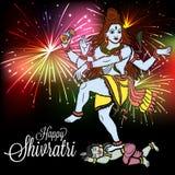 Shivratri. Illustration of a banner for Happy Shivratri Stock Image